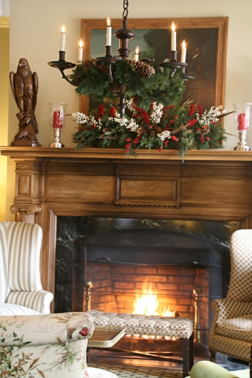 Holiday Decor of Cherry Red
