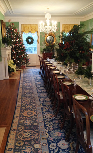 Jeff Haines Drumthwacket holidays table