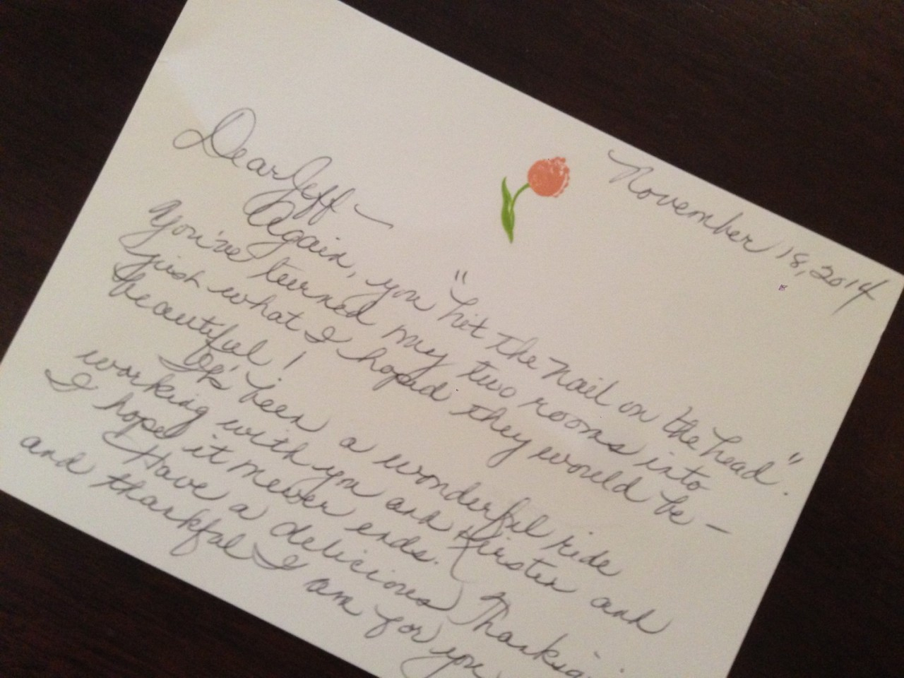 Beauty in the Handwritten Note